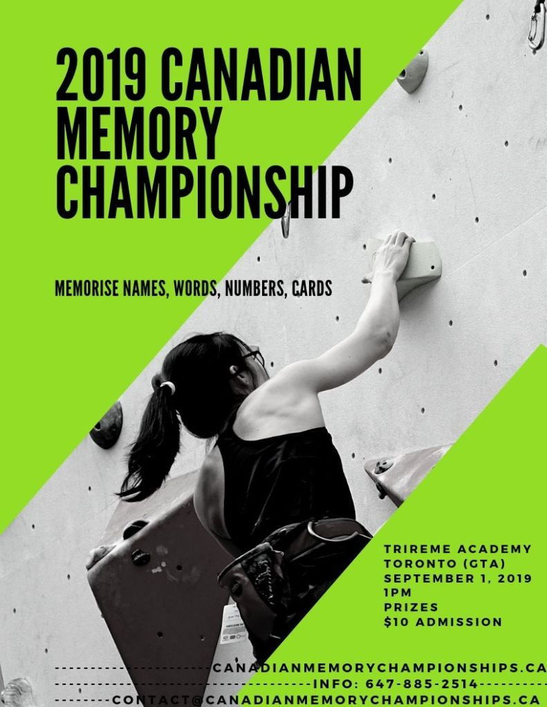 2019 Canadian Memory Championship